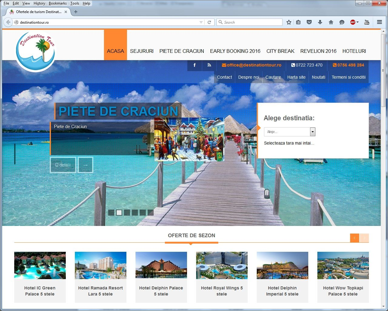 Travel Agency website creation for Destination Tour