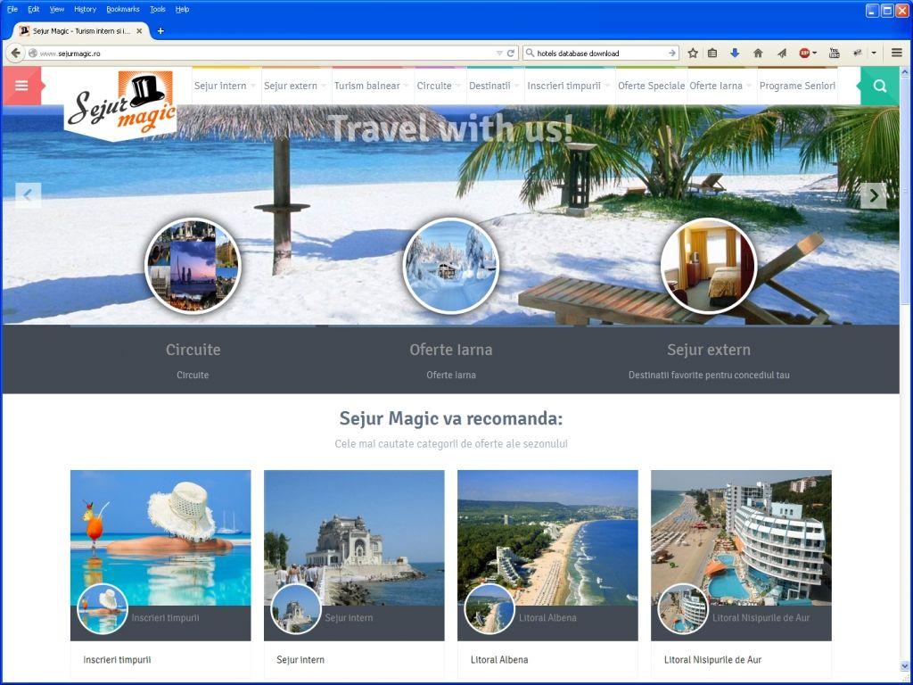 Travel Agency website for Sejur Magic