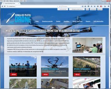 Presentation Website - Drones Flight School